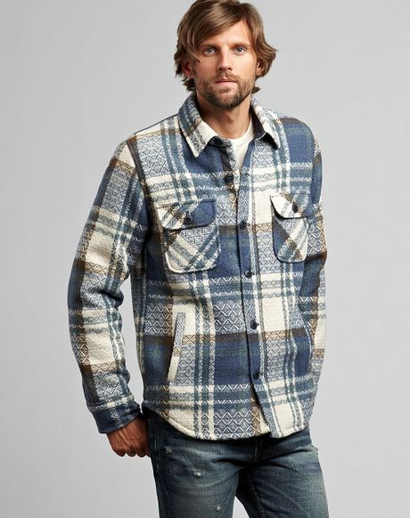 Lucky Brand Paxson Plaid Jacket In Blue For Men Multi Lyst