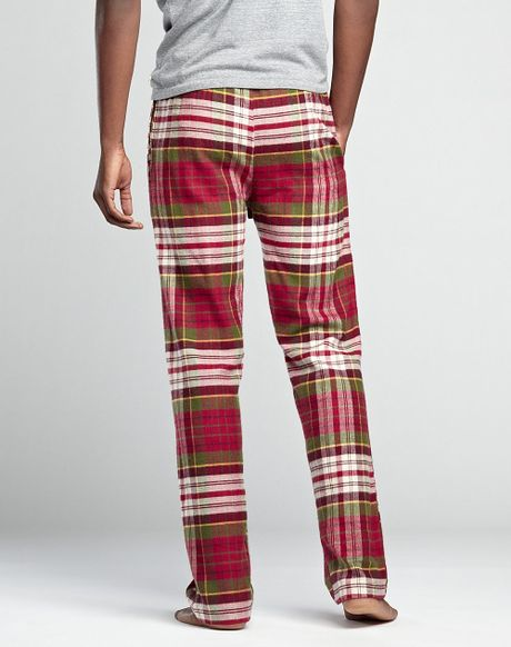 Lucky Brand Tartan Plaid Pants In Red For Men Red Plaid