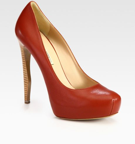 Nicholas Kirkwood Leather Platform Pumps in Red - Lyst