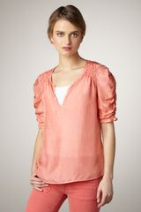 Textile Elizabeth And James Lara Smocked Top - Lyst
