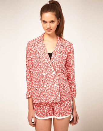 ASOS Collection Asos Pyjama Jacket with Chair Print - Lyst