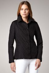Burberry Leather-trim Quilted Jacket - Lyst