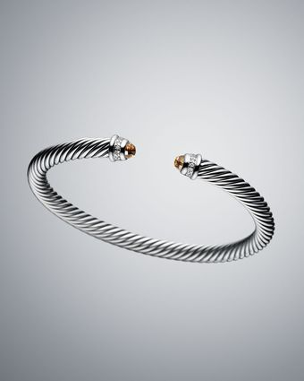 David Yurman 5mm Smoky Quartz Cable Classics Bracelet - Lyst