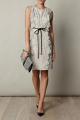 Giambattista Valli Line and Silk Spot Dress in White - Lyst