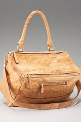 Givenchy Pandora Satchel, Camel, Medium - Lyst