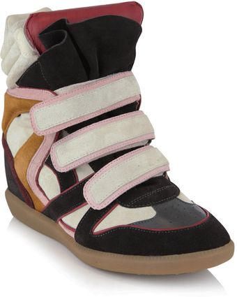 Isabel Marant Willow Wedge Trainers - Lyst