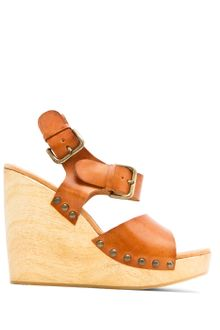 Mango Touch - Wood Wedge Sandal - Lyst