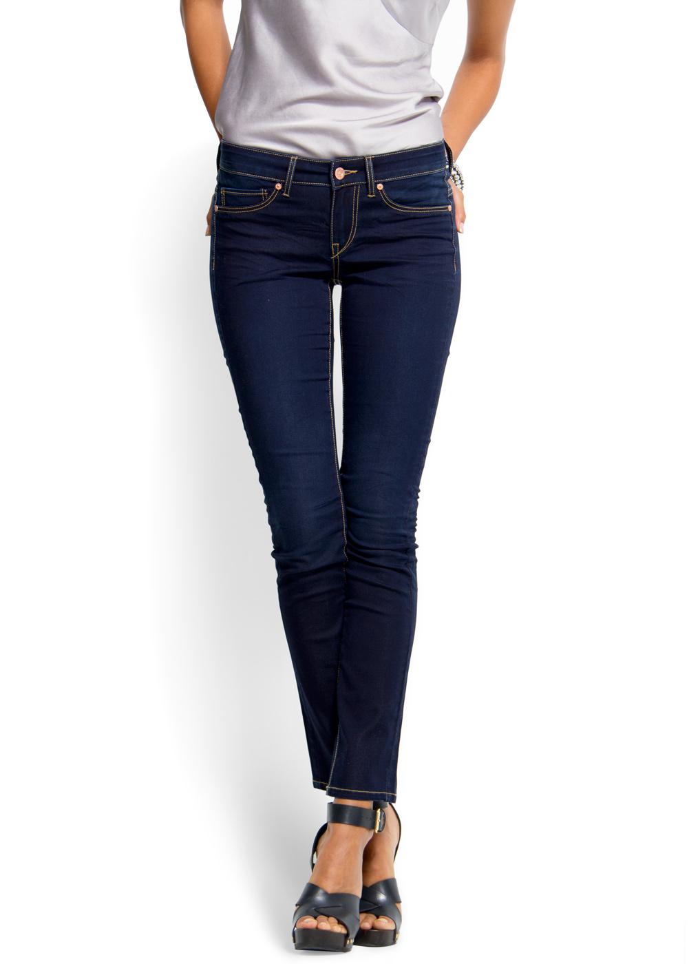 Mango Super Slim Jeans in Blue