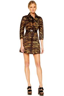 Michael Kors Duchesse Double-breasted Tiger Trench - Lyst