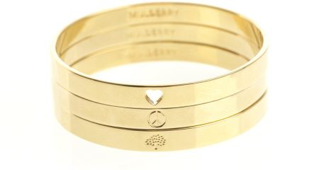 Bangle Bracelets Gold Triple Bangle Bracelet Set