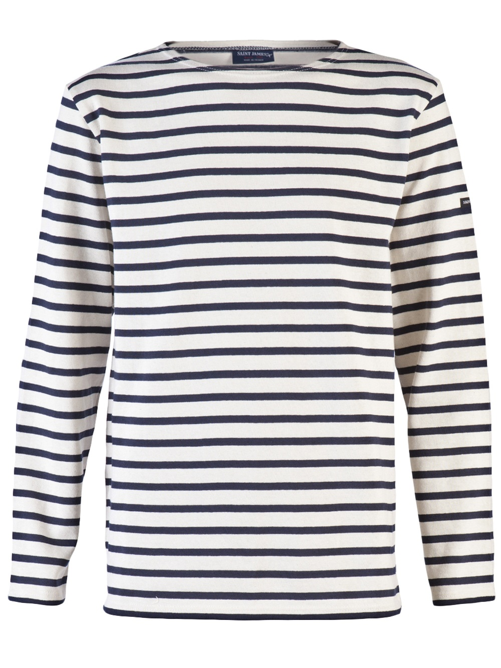 Saint james striped long sleeve tee in blue for men lyst for St james striped shirt