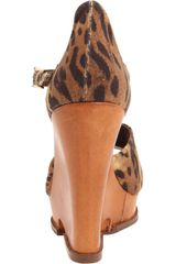 Sam Edelman Womens Javi Wedge Pump in Brown (tan/leopard) - Lyst