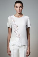 Stella McCartney Lace-Detailed Blouse - Lyst