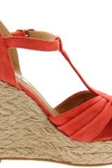 Steve Madden Womens Marvilis Espadrille in Orange (coral suede) - Lyst