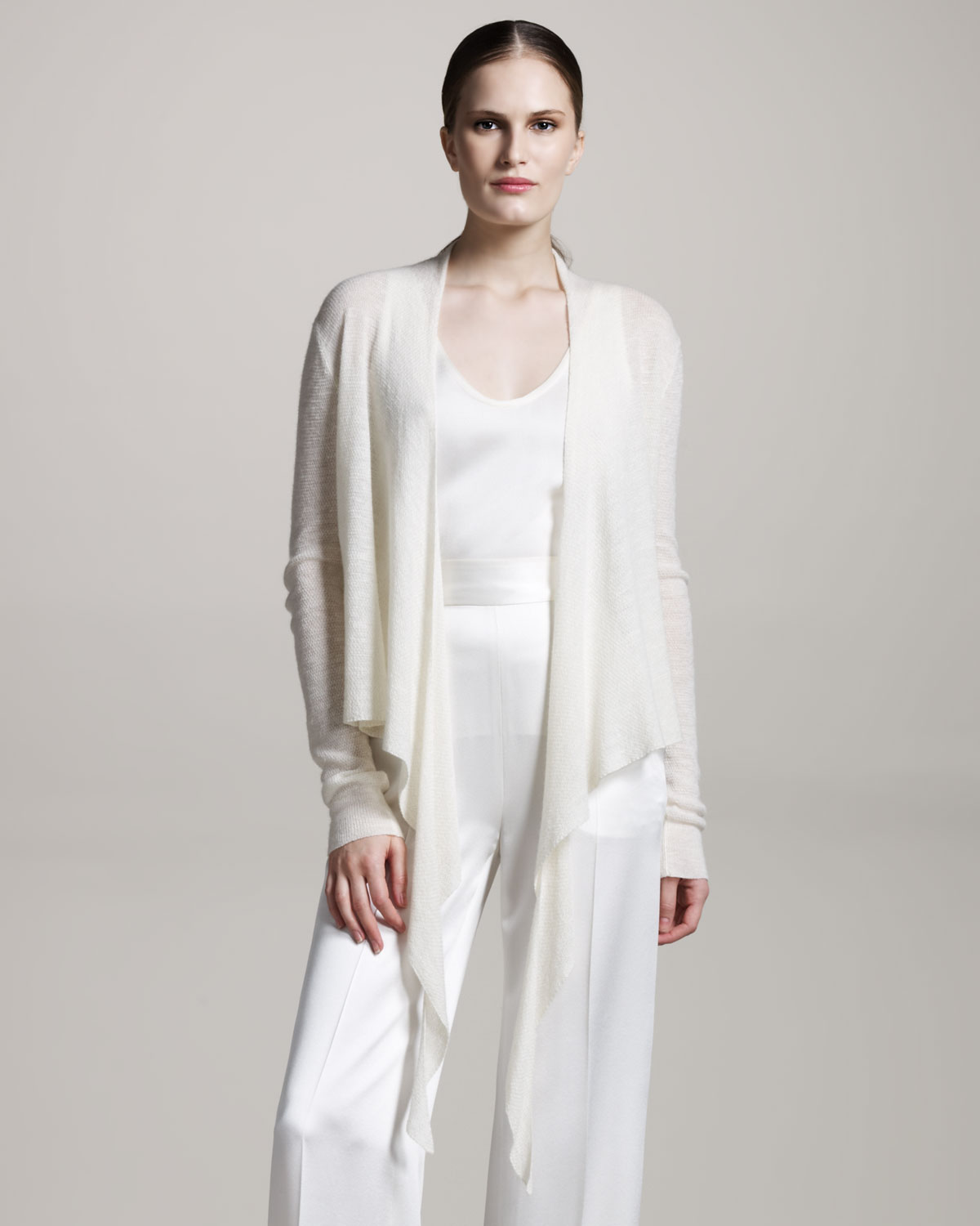 The row Angela Ballet Wrap Sweater in White | Lyst