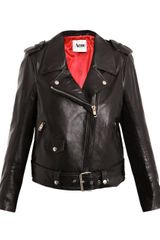 Acne Mape Leather Jacket in Black - Lyst