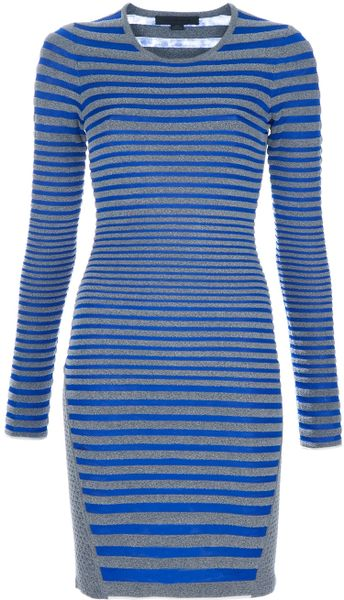 Alexander Wang Stripe Dress in Gray (grey) - Lyst