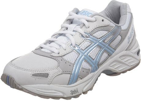 Asics Womens Gel Foundation Walker Walking Shoe in White (white/sky