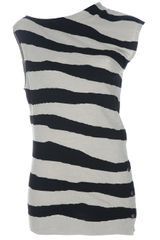 Balenciaga Stripe Top - Lyst