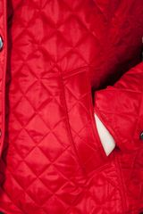 Burberry Brit Quilted Jacket in Red - Lyst