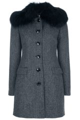 Dolce & Gabbana Structured Coat - Lyst