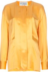 Gianfranco Ferre Vintage Pleated Blouse - Lyst