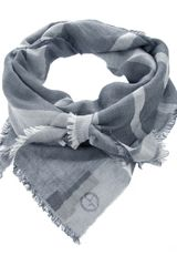 Giorgio Armani Frayed Scarf in Gray for Men (grey) - Lyst