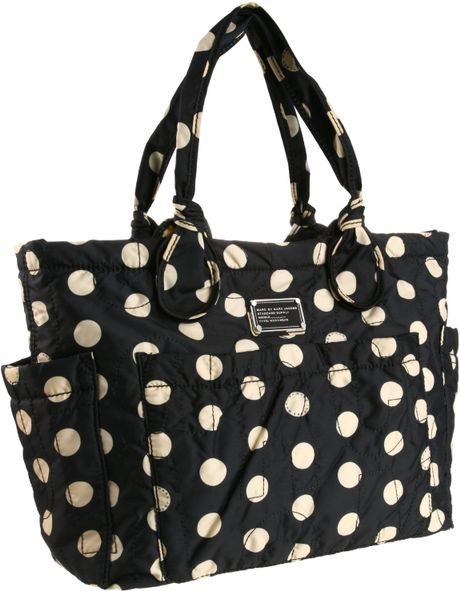 marc by marc jacobs d5 pretty eliz a baby diaper bag in black black cream lyst. Black Bedroom Furniture Sets. Home Design Ideas