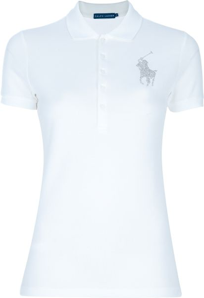 Ralph Lauren Blue Label Polo Shirt in White - Lyst