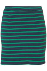 Topshop Mini Stripe Bodycon Skirt - Lyst