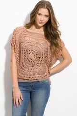 Wallpapher Crochet Medallion Top - Lyst
