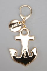Yves Saint Laurent Anchor Keyring in Gold - Lyst