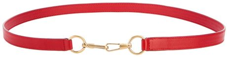 Saint Laurent Leather Belt in Red - Lyst