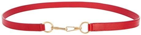 Saint Laurent Leather Belt in Red