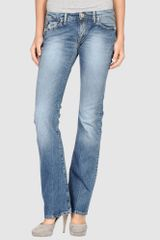 Replay Denim Trousers - Lyst