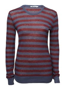 T By Alexander Wang Stripe Long Sleeve Tee - Lyst