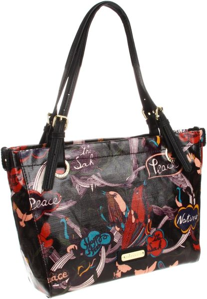 The Sak Artist Circle Large Satchel in Black (black peace) - Lyst