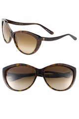 Alexander McQueen Two Tone Cats Eye Sunglasses - Lyst