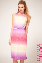 ASOS Collection Asos Petite Exclusive Midi Dress In Multi Coloured Lace - Lyst