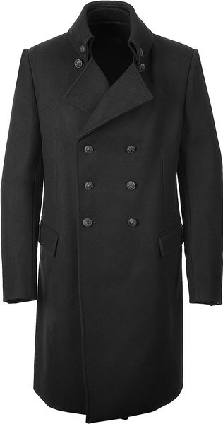 Balmain Black Danton Coat in Black for Men - Lyst