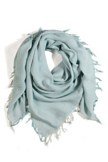 Balmain Light Blue Jacquard Scarf - Lyst