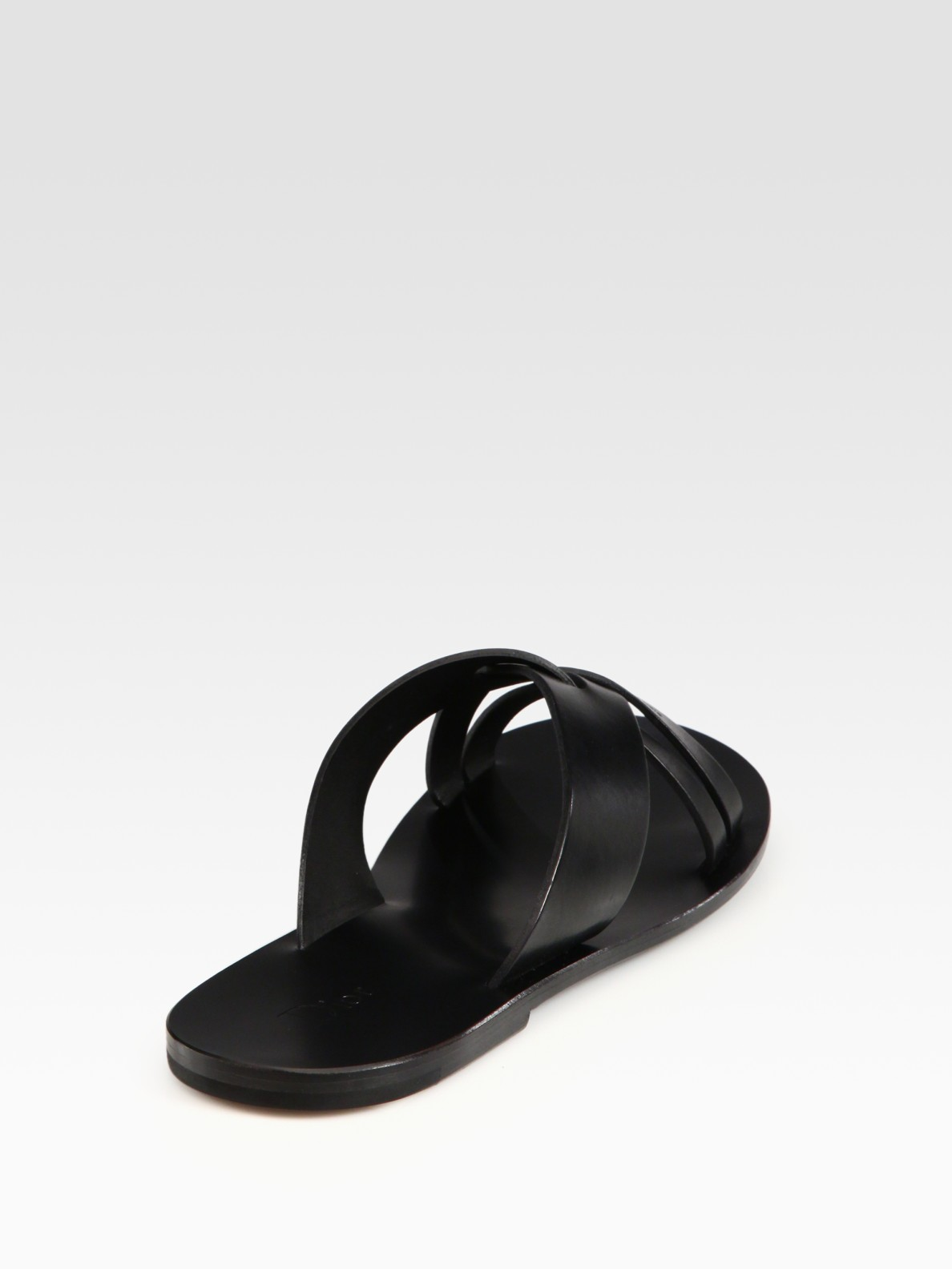 17cb2db083f Lyst - Dior Homme Leather Sandal in Black for Men