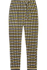 Easton Pearson Syriam Flag-print Silk-crepe Pants - Lyst