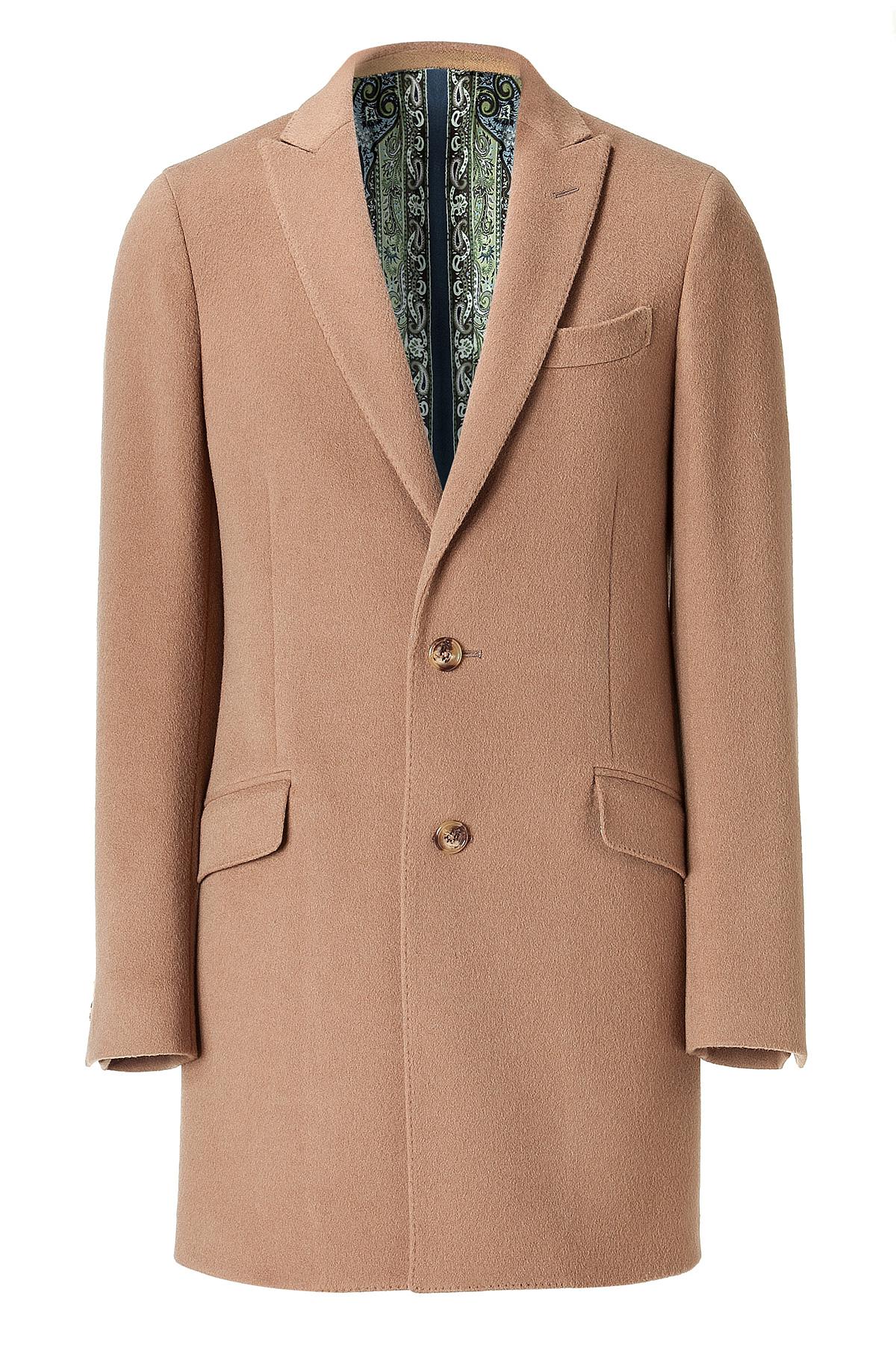 Etro Camel Wool Cashmere Coat in Beige for Men (camel)