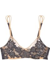 La Perla Laceappliquéd Stretchmesh Underwired Bra in Black (nude) - Lyst