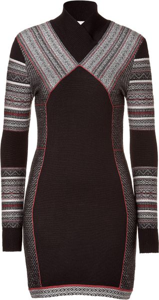 Matthew Williamson  Paneled Knit Dress in Black - Lyst