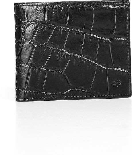 Mulberry Black Embossed Card Wallet in Black for Men - Lyst