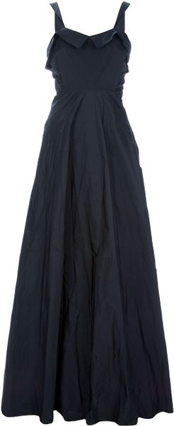 Acne Lillian Long Dress in Black - Lyst