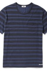 Acne Striped Cotton T-shirt - Lyst