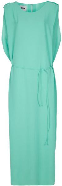 Acne Marnay Crepe Dress in Green - Lyst